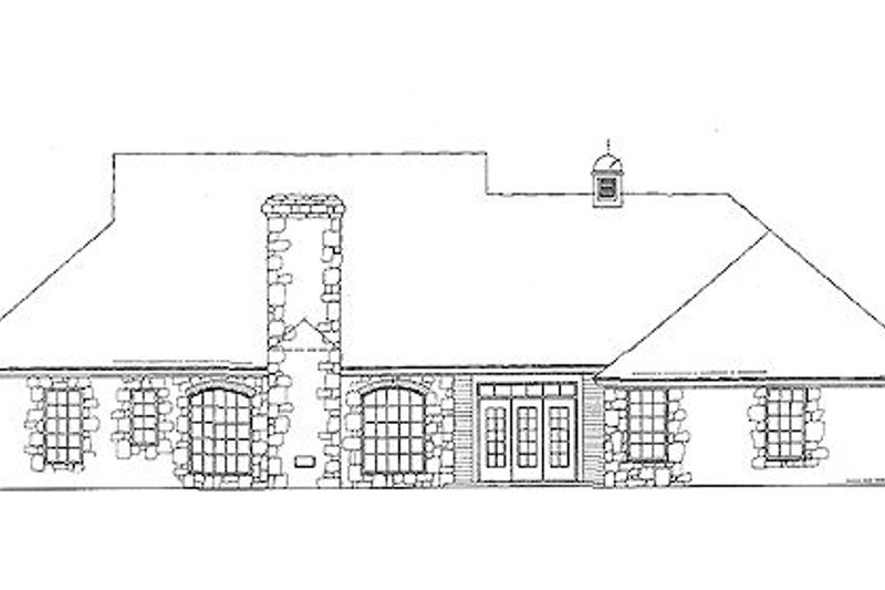 European Exterior - Rear Elevation Plan #310-618 - Houseplans.com