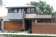Modern Style House Plan - 4 Beds 2.5 Baths 3442 Sq/Ft Plan #496-5 Exterior - Front Elevation