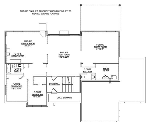 Traditional Floor Plan - Other Floor Plan Plan #1073-12