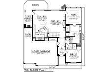 Ranch Floor Plan - Main Floor Plan Plan #70-1188