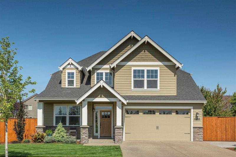 Craftsman Style House Plan - 3 Beds 2.5 Baths 2577 Sq/Ft Plan #48-514 Exterior - Front Elevation