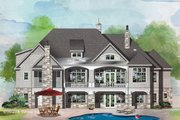 Craftsman Style House Plan - 4 Beds 4 Baths 3822 Sq/Ft Plan #929-1072 Exterior - Rear Elevation
