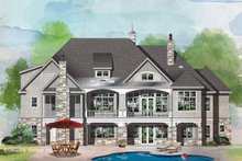 House Plan Design - Craftsman Exterior - Rear Elevation Plan #929-1072