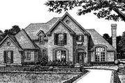 European Style House Plan - 3 Beds 2.5 Baths 2132 Sq/Ft Plan #310-156 Exterior - Front Elevation