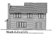 Traditional Style House Plan - 4 Beds 2.5 Baths 2073 Sq/Ft Plan #70-295 Exterior - Rear Elevation
