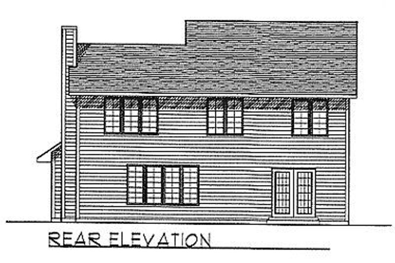 Traditional Exterior - Rear Elevation Plan #70-295 - Houseplans.com