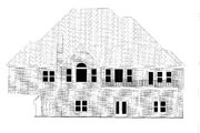Traditional Style House Plan - 4 Beds 3.5 Baths 2943 Sq/Ft Plan #437-118 Exterior - Rear Elevation