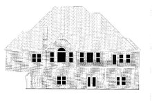 House Plan Design - Traditional Exterior - Rear Elevation Plan #437-118