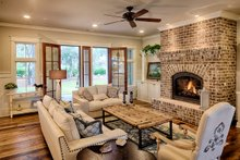 Country Interior - Family Room Plan #928-337