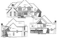 House Plan Design - European Exterior - Rear Elevation Plan #17-2075