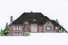 Home Plan - European Exterior - Front Elevation Plan #5-351