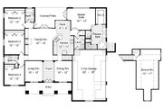 Mediterranean Style House Plan - 4 Beds 3 Baths 2258 Sq/Ft Plan #417-313 Floor Plan - Main Floor Plan