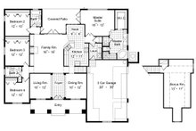 Mediterranean Floor Plan - Main Floor Plan Plan #417-313