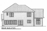 Traditional Style House Plan - 4 Beds 2.5 Baths 2420 Sq/Ft Plan #70-388 Exterior - Rear Elevation
