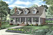 Country Style House Plan - 2 Beds 2 Baths 1712 Sq/Ft Plan #17-2181 Exterior - Front Elevation