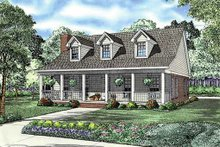 Architectural House Design - Country Exterior - Front Elevation Plan #17-2181