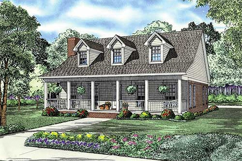 Country Style House Plan - 2 Beds 2 Baths 1712 Sq/Ft Plan #17-2181