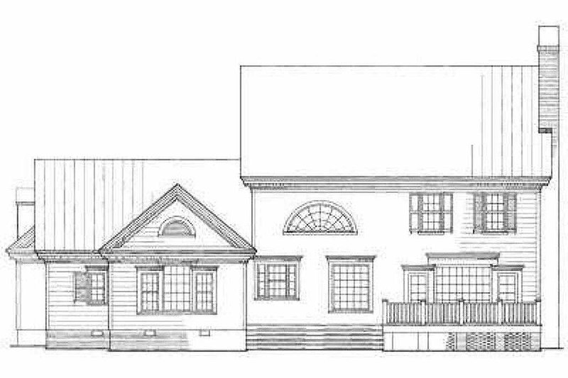 Southern Exterior - Rear Elevation Plan #137-107 - Houseplans.com