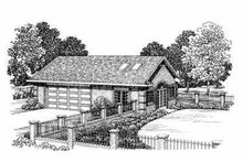Traditional Exterior - Front Elevation Plan #72-271