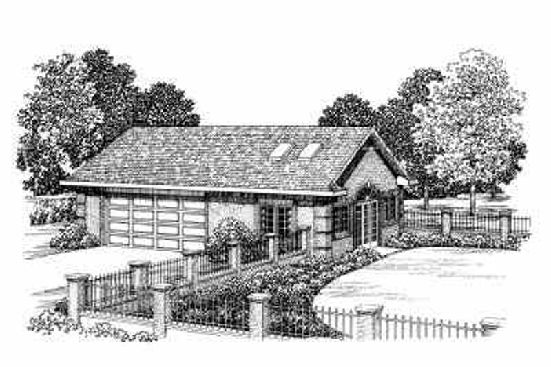 House Blueprint - Traditional Exterior - Front Elevation Plan #72-271