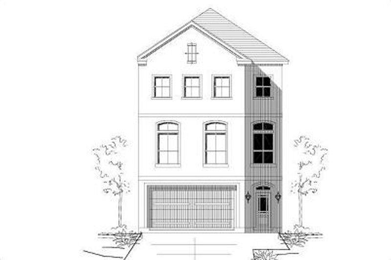 European Style House Plan - 3 Beds 2.5 Baths 2304 Sq/Ft Plan #411-681 Exterior - Front Elevation