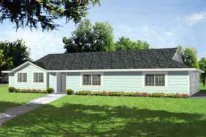 Ranch Exterior - Front Elevation Plan #1-402