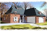 European Style House Plan - 3 Beds 3 Baths 2290 Sq/Ft Plan #15-286 Exterior - Front Elevation