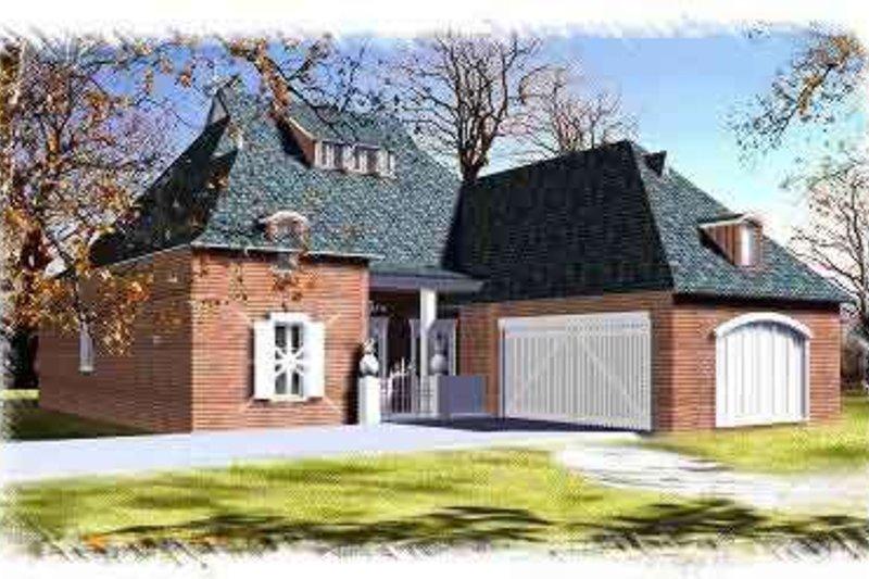 House Plan Design - European Exterior - Front Elevation Plan #15-286