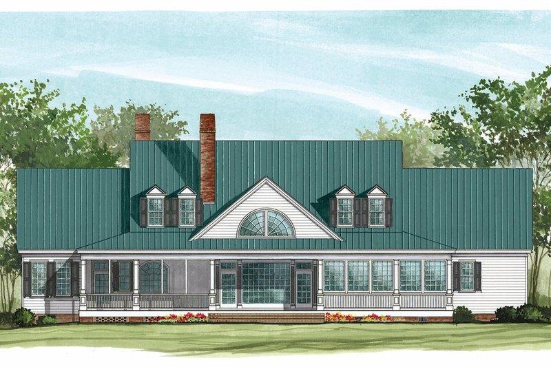 Farmhouse Exterior - Rear Elevation Plan #137-282 - Houseplans.com
