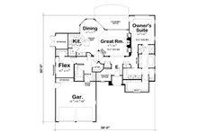 European Floor Plan - Main Floor Plan Plan #20-2145
