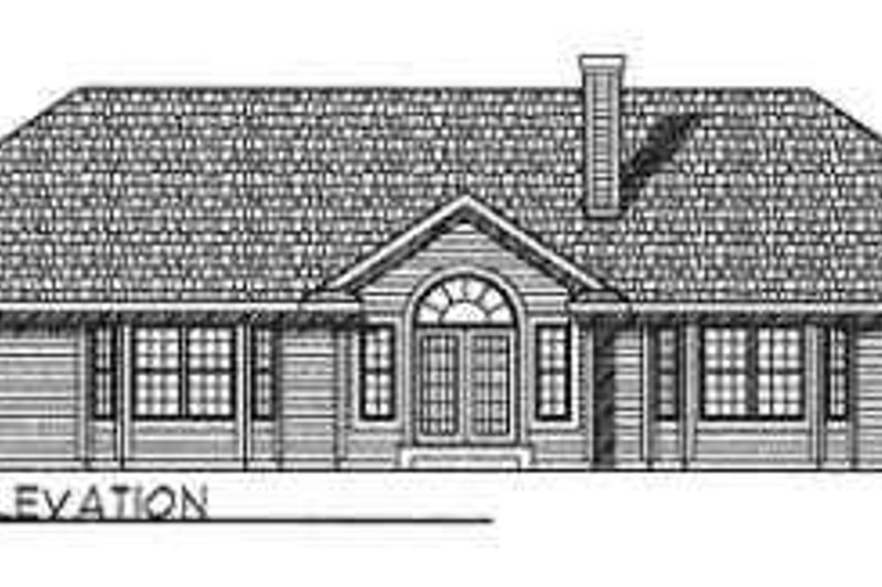 Traditional Exterior - Rear Elevation Plan #70-364 - Houseplans.com