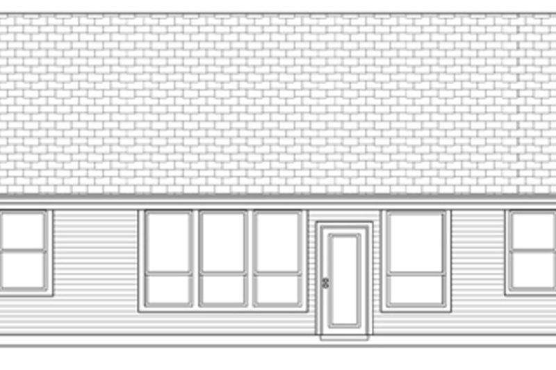 Country Exterior - Rear Elevation Plan #84-497 - Houseplans.com