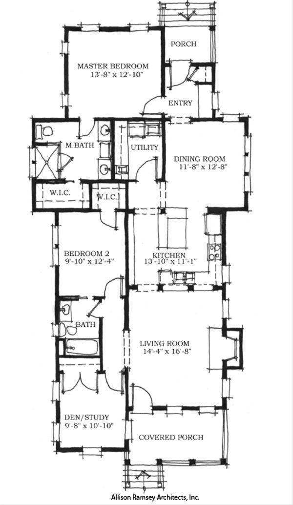 Beach Floor Plan - Main Floor Plan Plan #464-2