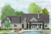 Ranch Style House Plan - 4 Beds 3 Baths 2347 Sq/Ft Plan #929-1096 Exterior - Rear Elevation