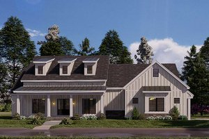 Craftsman Exterior - Front Elevation Plan #923-175