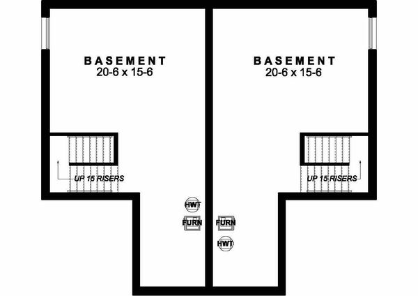 Craftsman Floor Plan - Lower Floor Plan Plan #126-203