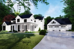 Farmhouse Exterior - Front Elevation Plan #923-117
