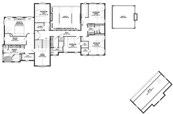 Farmhouse Floor Plan - Upper Floor Plan Plan #928-308