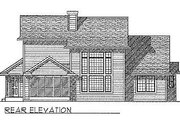 Traditional Style House Plan - 4 Beds 2.5 Baths 2155 Sq/Ft Plan #70-319 Exterior - Rear Elevation