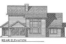 House Plan Design - Traditional Exterior - Rear Elevation Plan #70-319