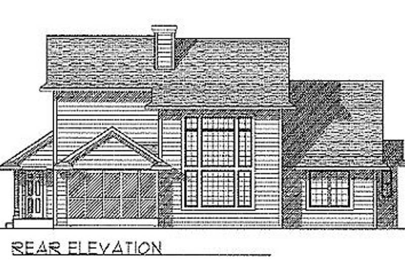 Traditional Exterior - Rear Elevation Plan #70-319 - Houseplans.com