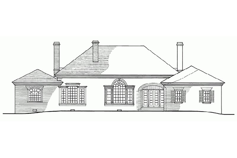 Southern Exterior - Rear Elevation Plan #137-116 - Houseplans.com
