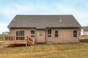 Ranch Style House Plan - 3 Beds 2.5 Baths 1426 Sq/Ft Plan #20-2290 Exterior - Rear Elevation