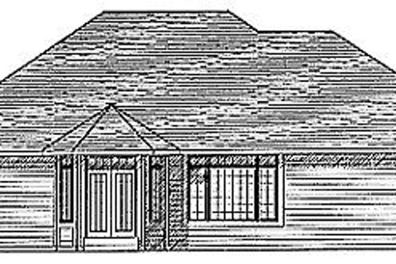 Exterior - Rear Elevation Plan #70-213 - Houseplans.com
