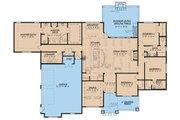 European Style House Plan - 4 Beds 3 Baths 2676 Sq/Ft Plan #17-3411 Floor Plan - Main Floor Plan