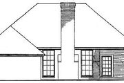 European Style House Plan - 3 Beds 2 Baths 1673 Sq/Ft Plan #310-573 Exterior - Rear Elevation