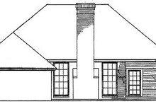 House Plan Design - European Exterior - Rear Elevation Plan #310-573