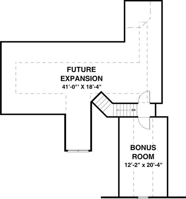 Craftsman Floor Plan - Upper Floor Plan Plan #56-633