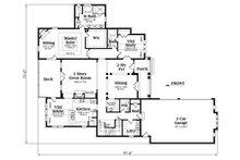 European Floor Plan - Main Floor Plan Plan #419-270