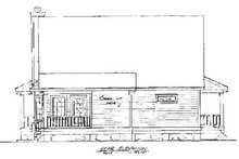 Country Exterior - Rear Elevation Plan #37-141